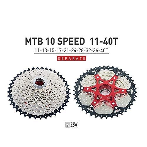 HIGHER MEN VTT Cassette 10 11 12 Vitesse 11-40T 42T 46T 50T Vélo de Montagne Vélo Roue Libre Pignons for Shimano SRAM Sunrace Pièces vélo (Color : 10S 11 40T)