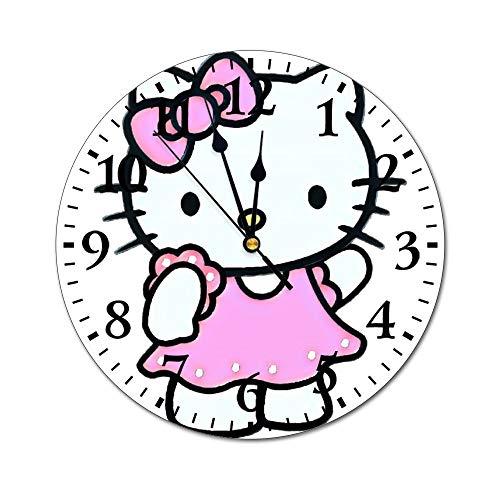 YOKJLDH Hello Kitty - Reloj de pared de PVC para colorear,