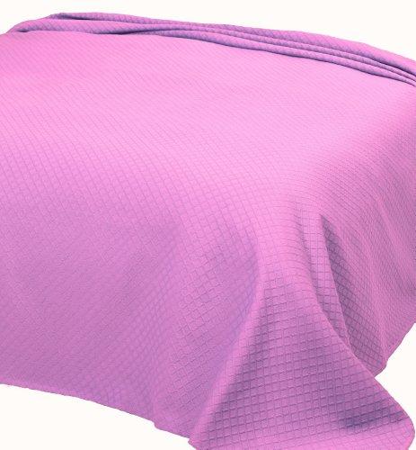 Home Basic 253 - Colcha de piqué para Cama de Matrimonio, 240 x 260 cm, Color Rosa