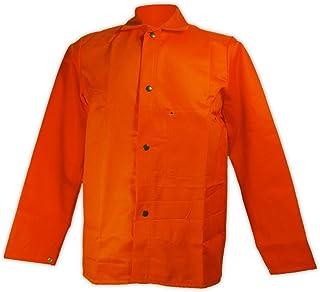 Magid Glove & Safety OR1836-3XL SparkGuard OR1836 Flame Resistant 9.0 oz. Sateen Jacket, 3X-Large, Orange
