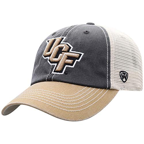 Top of the World Men's Relaxed Fit Adjustable Mesh Offroad Hat Team Color Icon, Central Florida Golden Knights Black