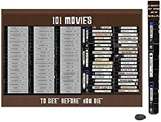 101 Movies Scratch Off Poster Bucket List | Gift for Movie Lover | Gift for Dad | Gift for Mom | Top Films of All Time