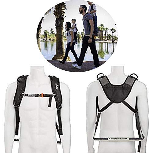Child Standing Shoulder Strap - Creative Knight Shoulder Strap - Child Toddler Carrier Backpack - Scout Model for Hiking Trails, Camping, Fitness Travel (Color : Black)