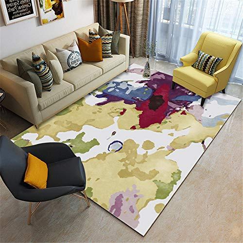WBDYMX tapijten woonkamer modern onderhoudsvriendelijk rood-rode witte open haard - in meerdere maten tapijt