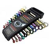 Fermec - Juego de llaves combinadas, varios colores