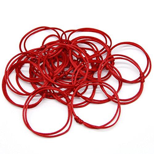 Zhichengbosi Handmade Red Bracelet, Adjustable Red Bracelet String, Good for Prosperity and Success 10 pcs
