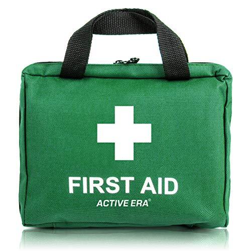 Erste Hilfe Set - 90-teiliges Premium Erste-Hilfe-Set - enthält Sofort Kühlpacks, Augenspülung, Rettungsdecke für zu Hause, Büro oder Auto - Grün