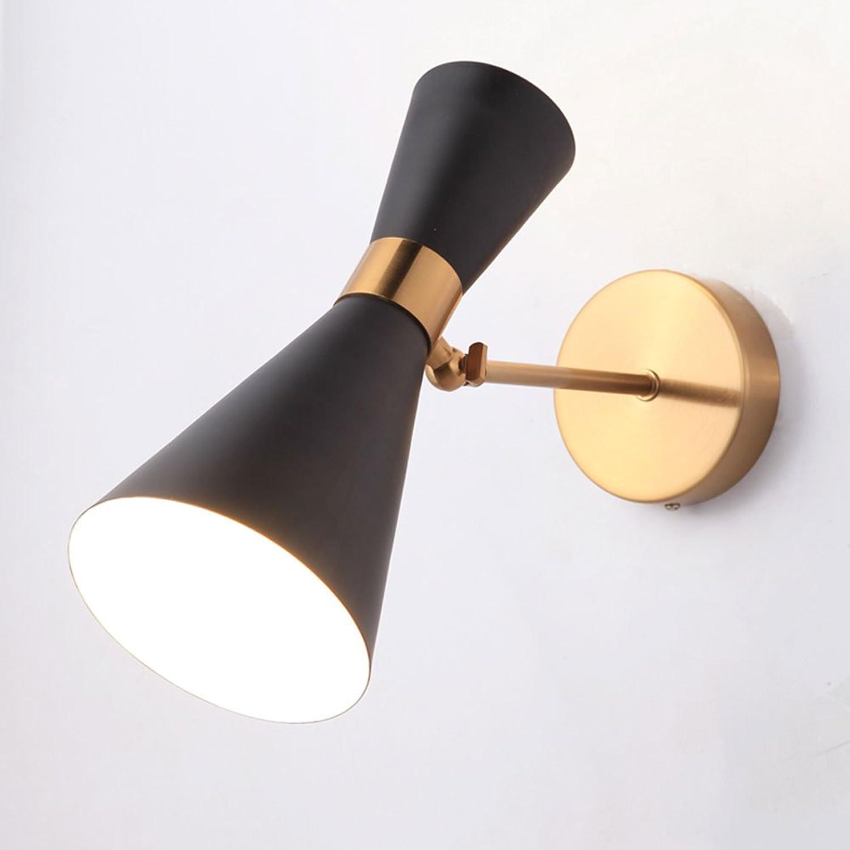 Pointhx Einstellbare Schwenkarm Metall Wandleuchte Licht Europa Kreative Mechanische Eisen Kunst Wandleuchte Badezimmerspiegel Licht Schlafzimmer Wohnzimmer Wandleuchte (Farbe   schwarz)