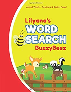 Lilyana's Word Search: Solve Safari Farm Sea Life Animal Wordsearch Puzzle Book + Draw & Sketch Sketchbook Activity Paper | Help Kids Spell Improve ... | Creative Fun | Personalized Name Letter L