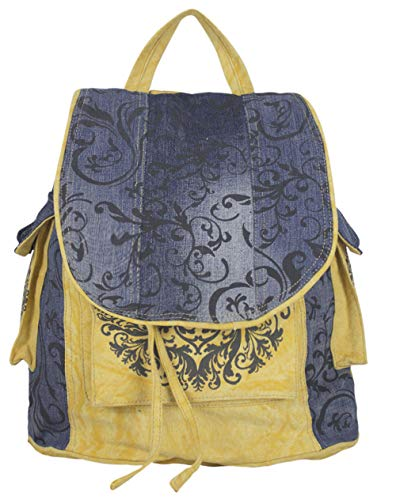 Sunsa Damen/Mädchen Rucksack Backpack lässig Canvas Tasche Daypack gross Sporttasche Umhängetasche Rucksäcke Bags for Women Ranzen Big bag Weekender Taschen schöne Geschenke für Frauen top sale gelb