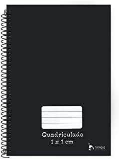 Caderno Espiral Pedagógico C.D. Quadriculado 1 x 1cm Tamoio - Neutro