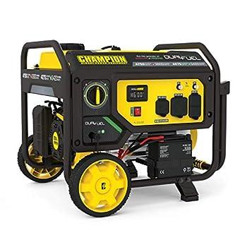 Champion Power Equipment 201052 4750/3800-Watt Dual Fuel Portable Generator with Electric Start Wheel Kit