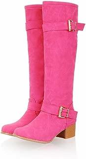 Women's Monk-Strap Chunky Heel Knee Boot