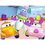 ーレッカー車のトムのペイントショップ:プーさん & バズライタ 子供向けトラックアニメ