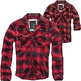 Brandit Check Shirt Camisa, Rojo/Negro, M para Hombre