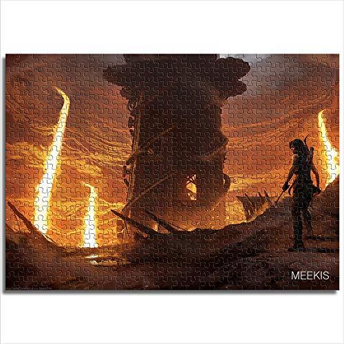 yuhho Puzzle Stampato 1000 Pezzi Tomb Raider Shadow Tomb Raider Shadow Forge Toy Puzzle Fun Toy Gift 50x75