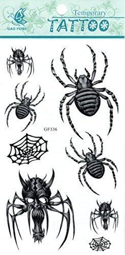 fat-catz-copy-catz araignée Scorpion Tribal Web Crânes Roses Fleurs Cool Sexy Tatouages TEMPORAIRES