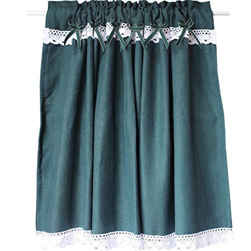 LYDM American Country Green Half Curtain kurzvorhang Baumwolle und leinen dust café küche schranktür waschbecken halbe vorhänge,1st