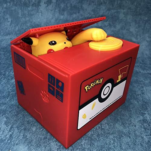 Engpai Tirelire électronique Pokémon Pikachu en forme de cochon - Vole automatiquement de pièces de monnaie pour enfants ou amis - Anniversaire