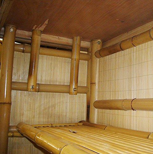 4tlg. Bar RIVAS + Bambus Theke Tresen Barhocker OUTDOOR - 5