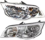 Evan-Fischer Headlight Set Compatible with 2003-2007 Saturn Ion Left Driver and Right Passenger Side Halogen With bulb(s)