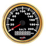 """Car Instruments 3-3/8"""" 85MM Motocycle Car Vehicle Boat GPS Speedometer 200 Km/h"""