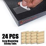 Super Dash Transparente Espuma Acústica de Doble Cara Cintas Adhesivas Montaje Fácil Sticky Tabs (24 Piezas)