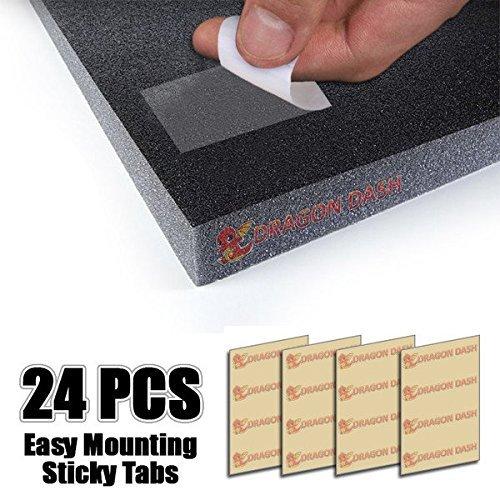 mejores Aislantes acústicos Super Dash Transparente Espuma Acústica de Doble Cara Cintas Adhesivas Montaje Fácil Sticky Tabs (24 Piezas)