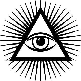 Yilooom Third Eye Decal Window Bumper Sticker Car Inner Wisdom Self Aware Awake Woke Sun