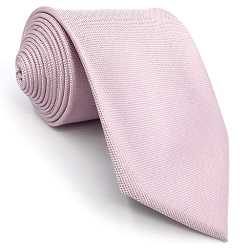 S&W SHLAX&WING Corbatas Para Hombre Color Sólido Rosa Classic Boda Party Seda
