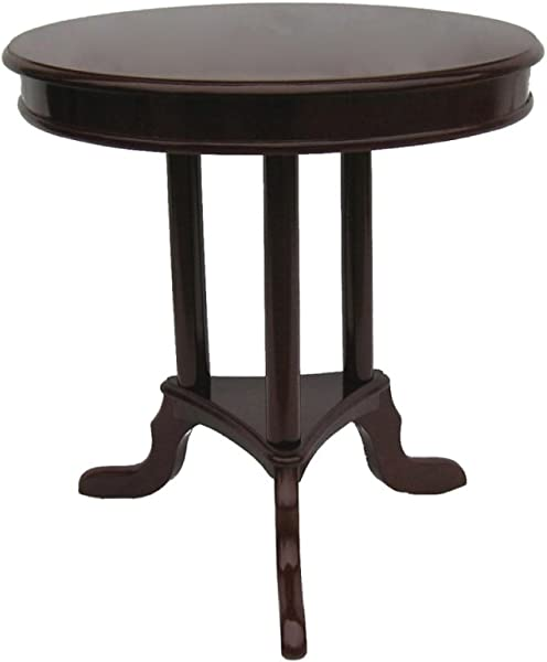 Home Source Industries AF070 Early American Round Accent Table Mahogany