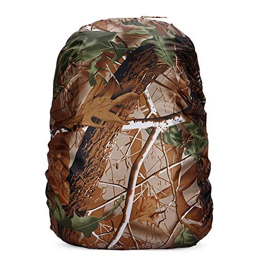 YUHEYUN Wandertasche 100L Rucksack Regenschutz wasserdichte Tasche Staub Wandern Camping Taschen Tragbarer Rucksack 90L 95L, Leaf Camo, 90L-100L