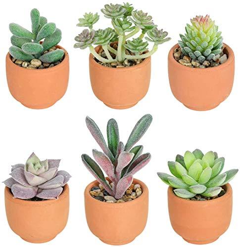 Hawesome piante grasse artificiali in vaso 6 pz pianta finta per la decorazione della casa bagno decorazione piante da interno ufficio accessori decorativi