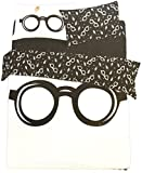 Juego de funda de edredón y funda de almohada con diseño de Harry Potter. De Primark Home, negro/blanco, Double 200 cm x 200 cm