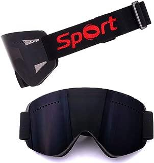 Fashion Regalos Anti-niebla Anti-viento Negro Gafas De Esquí Alpinismo Riding Equipo De Nieve Motocross Al Aire Libre Deportes De Invierno Ultraligero Sin Rebordes Cilíndricos Del Espejo For Hombres M