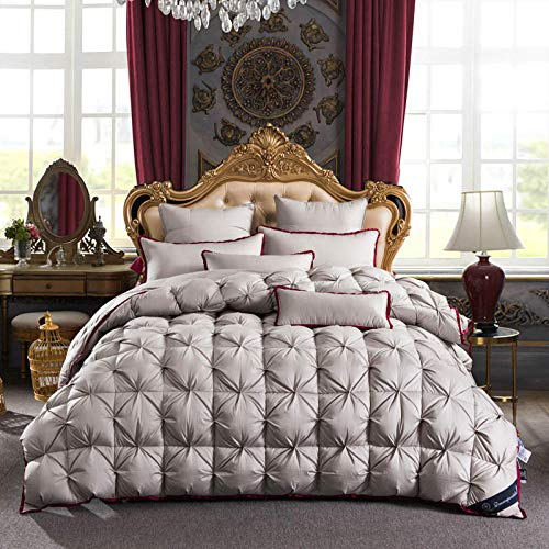Hahaemall goose down duvet Duvet Quilt Super King 13.5 Tog Winter Warm Season-Double duvet Winter duvets Non Allergenic Hollowfibre white goose down winter duvet-F_150x200cm-2500g