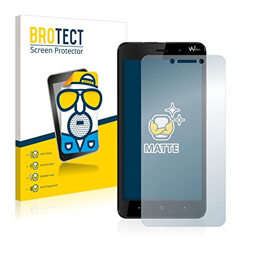 BROTECT 2X Entspiegelungs-Schutzfolie kompatibel mit Wiko Lenny 4 Plus Bildschirmschutz-Folie Matt, Anti-Reflex, Anti-Fingerprint