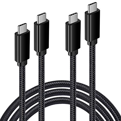 """USB C to USB C 3.1 Gen 2 Cable, Qihop-2 Pack 6.6FT 10 Gbps/100W Fast Charging USB C Cable, Compatible with MacBook Air, MacBook 16""""/13"""",iPad Pro, iMac Pro ,Oculus Quest, Samsung Galaxy S10 and More"""