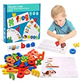 Tesoky Educational Toys for 2-8 Year Old Boys Girls,Kids Learning Toys Age 3-8 Spelling Games Gifts for 3-8 Year Old Boys Girls Toddlers Toys Age 3-8 Kids Toys for Birthday Party Easter Gifts