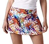 Queen of the Court Splatter Paint Women's Performance Athletic Skirt |Tennis | Running | Training | Pickle Ball Skort (Small)