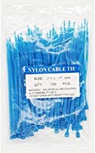 SYD CHEN 4 Inch Blue Zip Ties (100 Pieces), 18lb Strength, Nylon Cable Wire Ties