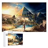 Assassin's Creed ジグソーパズル 1000ピース 絵画 学生 子供 大人 向け 木製パズル TOYS AND GAMES おもちゃ 幼児 アニメ 漫画 プレゼント 壁飾り 無毒無害 ギフト