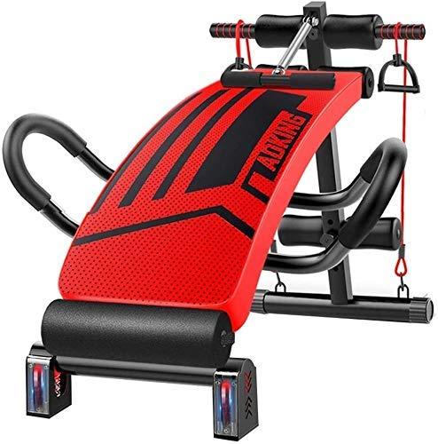 GANE Bancos de Pesas Ajustables, absorción de Impactos roja Sit up Slant Board Pro AB, Workout Abdominal Exercise multifunción Board