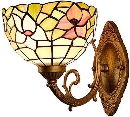 miwaimao Lámpara de pared estilo retro minimalista Tiffany, hecha a mano, lámpara de pared con fuente de luz E27, para casa, bar, restaurante, cafetería, decoración