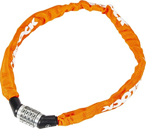 Trelock BC 115/60/4 Code Zahlen-kettenschloss, orange, 60 cm