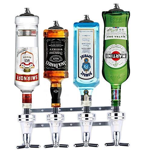Barbarian 4 Flaschenoptik für Spirituosen - Bar Butler **mit kostenlosem Wandflaschenöffner** 30ml Shot Messung Halterung Alkohol getränkespender getränkeportionierer flaschenhalter wand Männerhöhle