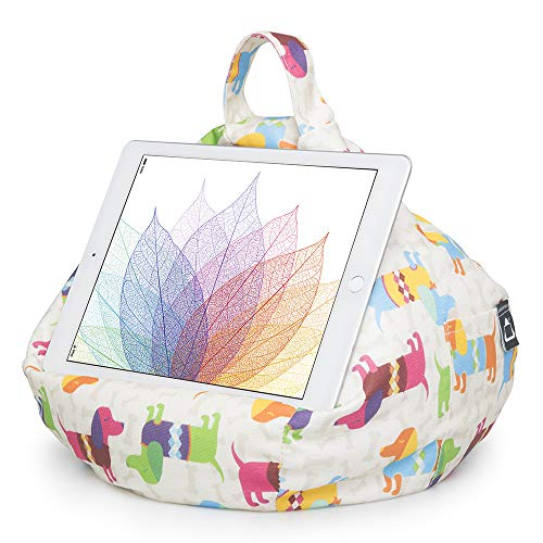 iBeani iPad & Tablet Stand / Bean Bag Cushion Holder for All Devices / Any Angle on Any Surface - Dachshund