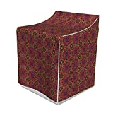 Lunarable Ethnic Washer Cover, Rhythmic Tribal Intricate Nature and Geometry Inspired Motifs Style Illustration, Suitable for Dryer and Washing Machine, 29' x 28' x 40', Multicolor