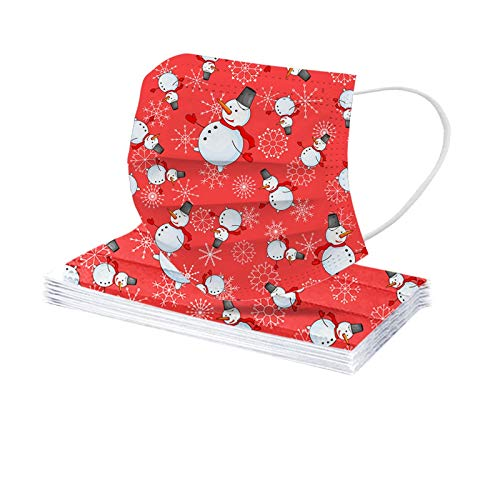 Tomatoa 10 Stück Einmal-Mundschutz,Weihnachts Atmungsaktive Staubschutz Mundbedeckung,Erwachsene,Outdoor Face Cover Sommerschal Bandana