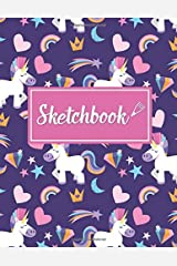 """Sketchbook: Cute Unicorn: A Large Journal with 150 Pages of 8.5"""" x 11"""" Blank Paper for Drawing, Sketching and Doodling Paperback"""